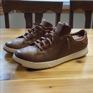 Cole Haan brown leather dress sneaker grand os 12